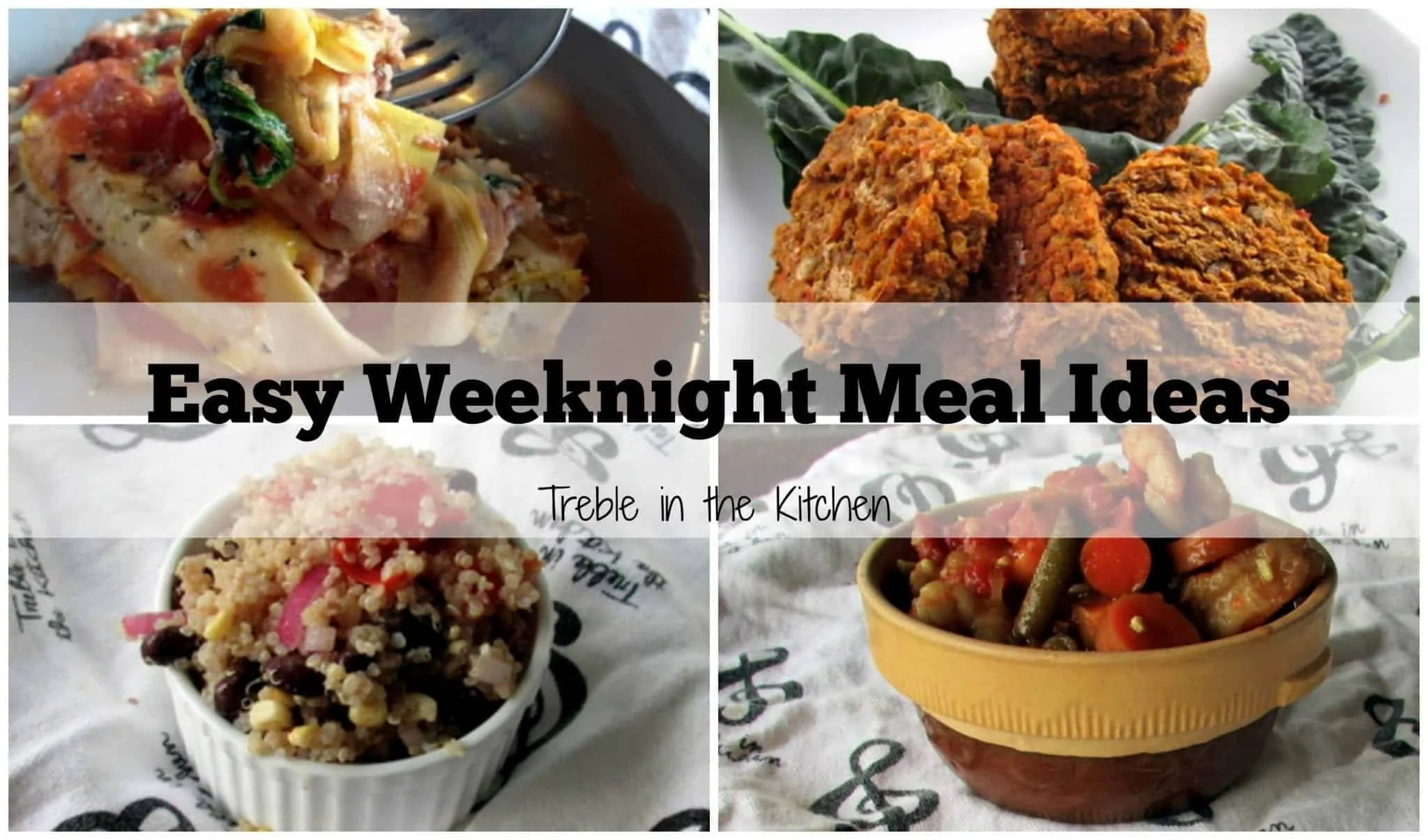 Easy Weeknight Meals via Treble in the Kitchen