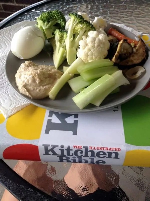 lunch and cook book reading
