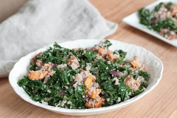 roasted sweet potato kale quinoa salad via eating bird food