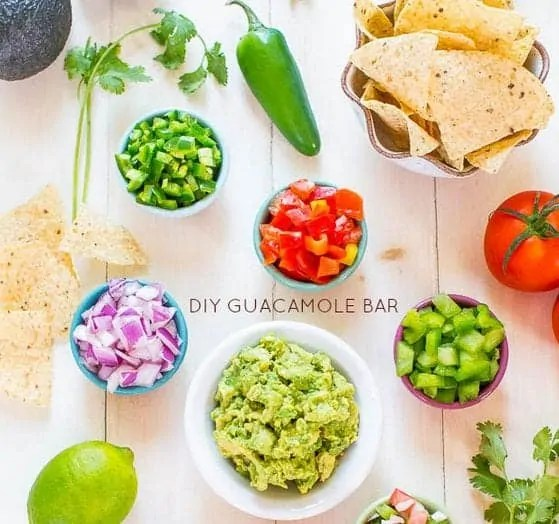 diy guacamole bar averie cooks