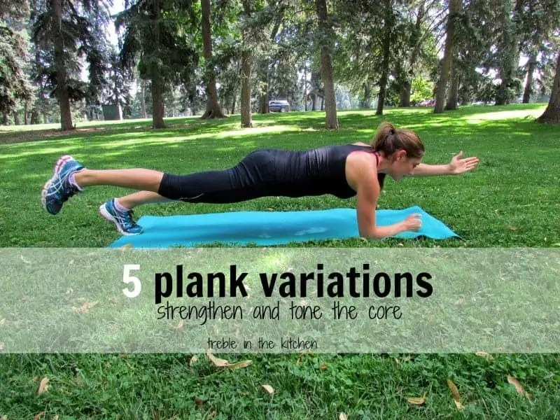 5 plank variations via treble in the kitchen blog
