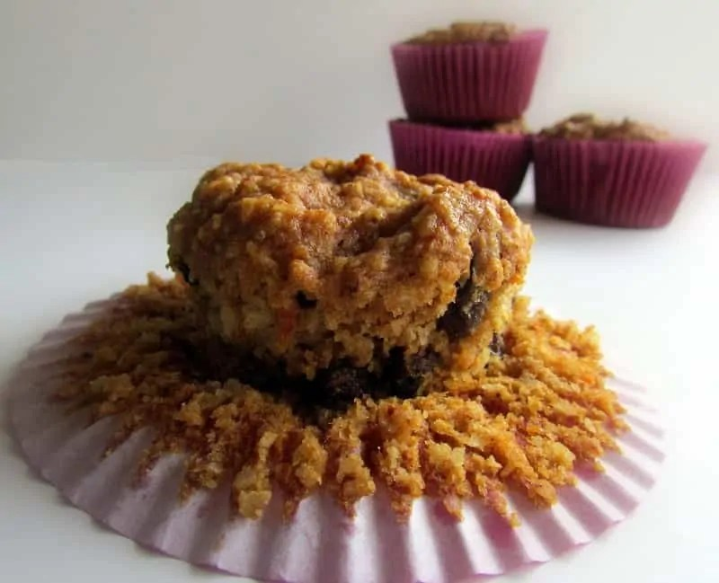 Pumpkin Raisin Nut Muffins via Treble in thet Kitchen