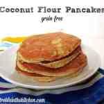 Coconut Flour Pancakes {Grain-Free}