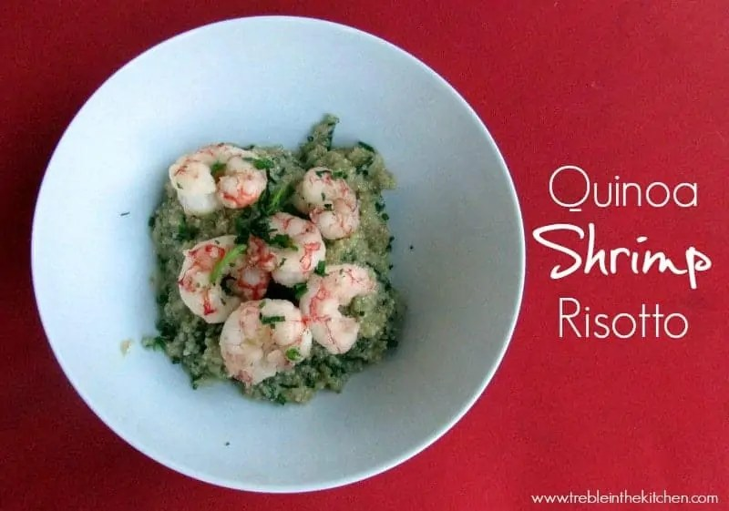Quinoa Shrimp Risotto via Treble in the Kitchen low FODMAP