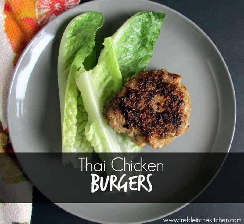 Thai Chicken Burgers via Treble in the Kitchen low fodmap
