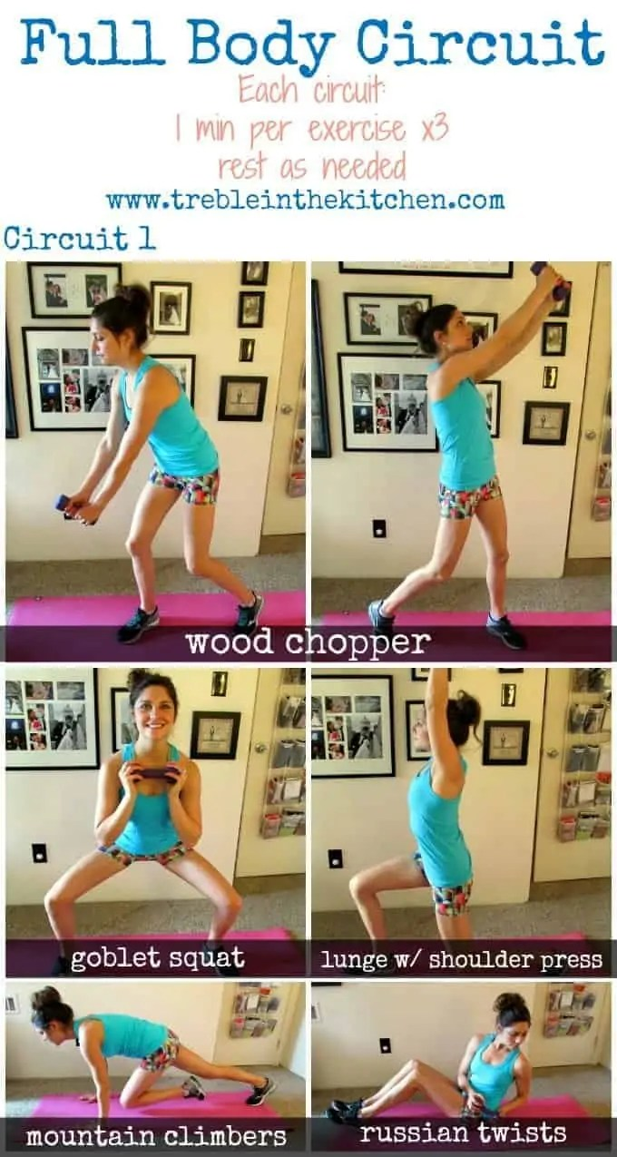 Full Body Circuit 1 Workout via Treble in the Kitchen