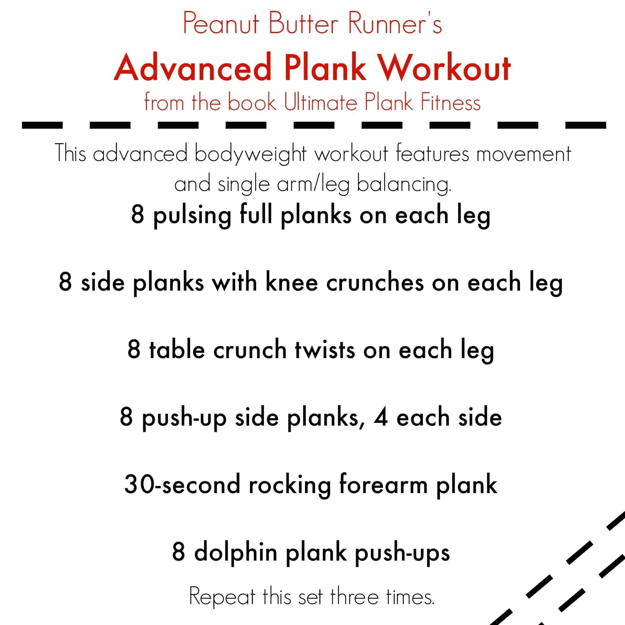 Plank Workout via Plank Fitness Review Treble in the Kitchen