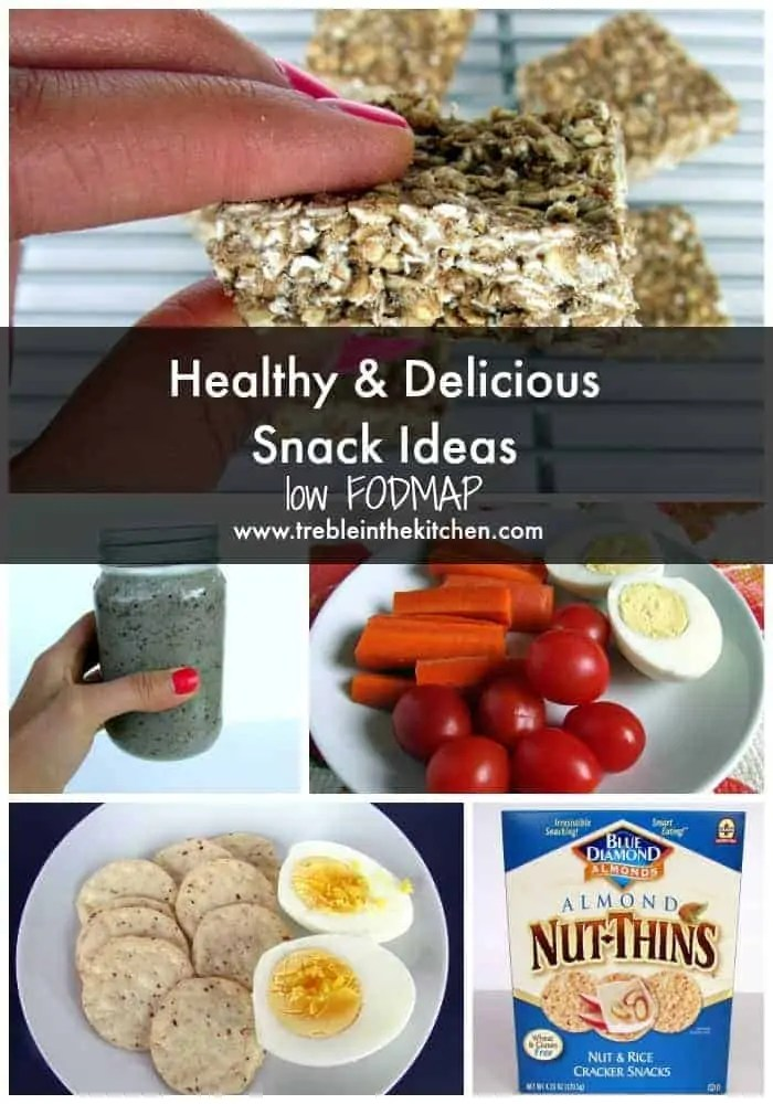low FODMAP Snack Ideas via Treble in the Kitchen