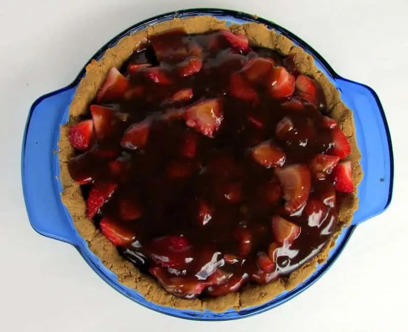 low FODMAP Strawberry Pie via Treble in the Kitchen