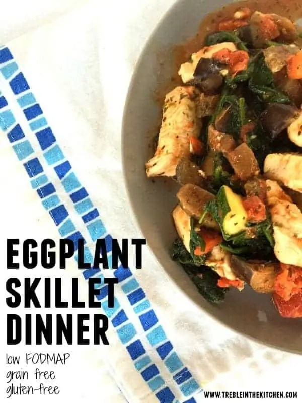 Eggplant Skillet Dinner from Treble in the Kitchen
