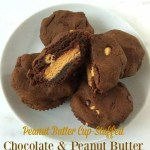 Peanut Butter Cup-Stuffed Chocolate & Peanut Butter Chip Cookie Cups