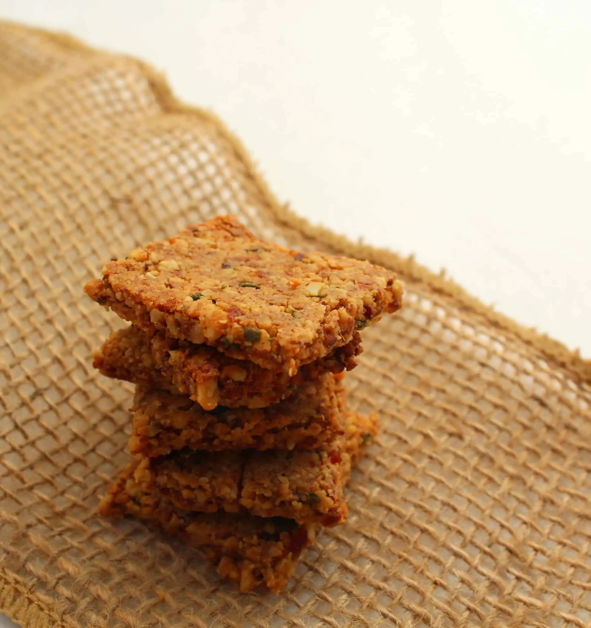 Cranberry Rosemary Almond Crackers from Treble in the Kitchen grain free, gluten free, paleo, whole 30, vegan