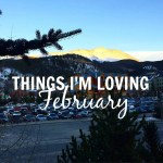 Things I'm Loving:  February 2016