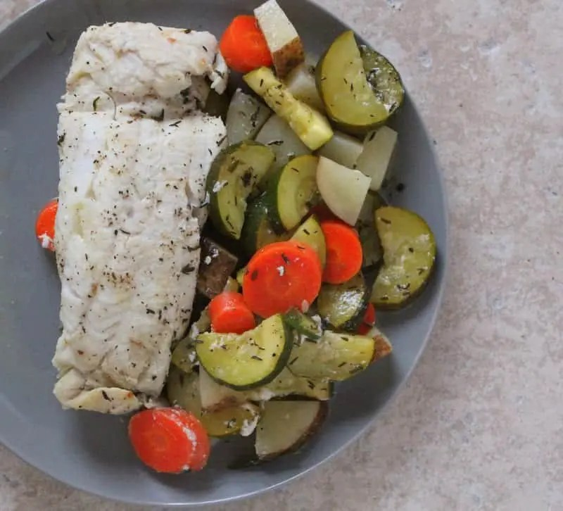 Easy Baked Fish in Foil Packets from Treble in the Kitchen