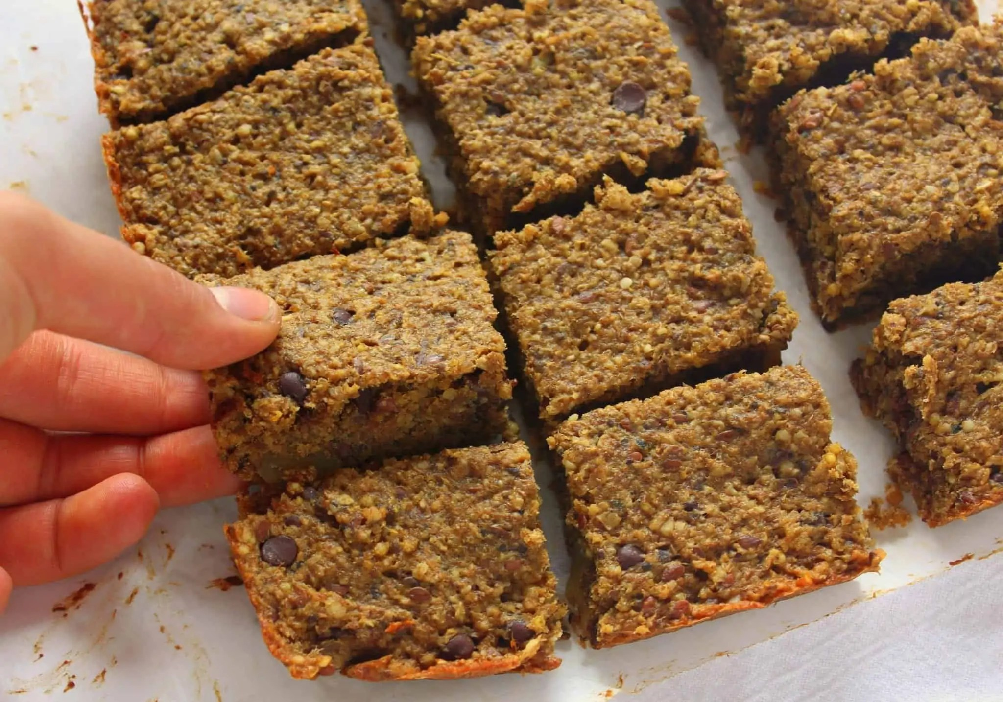 Millet Banana Breakfast Bars | Treble in the Kitchen