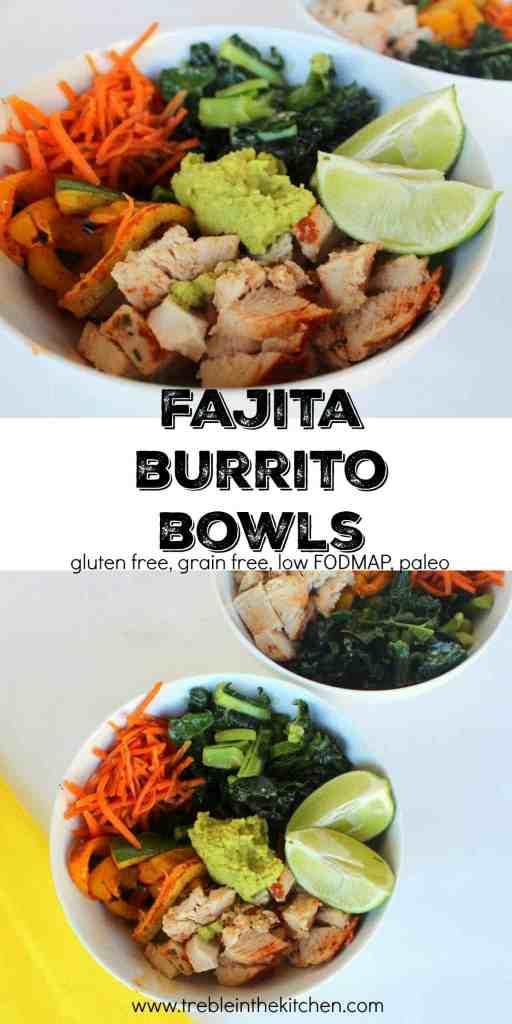 Fajita Burrito Bowls from Treble in the Kitchen