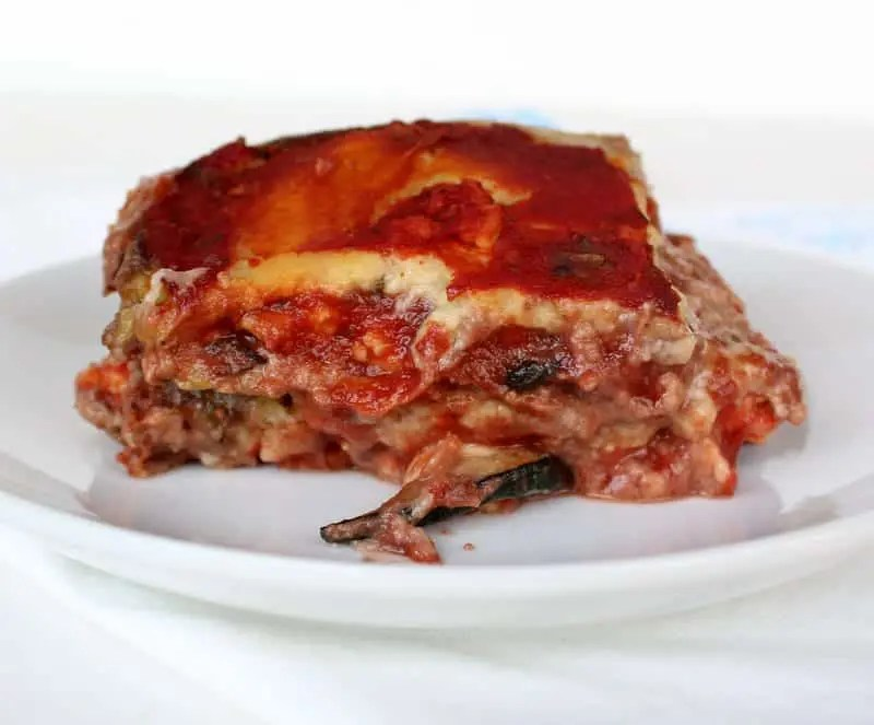 Roasted Vegetable Lasagna {Dairy Free, Paleo-Friendly} from Treble in the Kitchen