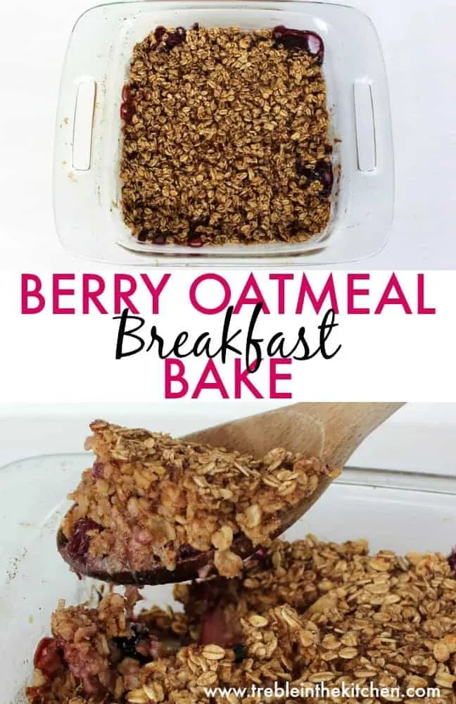 Berry Oatmeal Breakfast Bake from Treble in the Kitchen