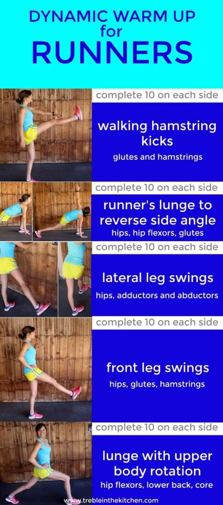 Dynamic Warm Up for Runners from Treble in the Kitchen