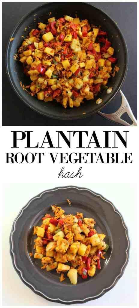 Plantain Root Vegetable Hash Low FODMAP, gluten free, grain free, paleo friendly, dairy free
