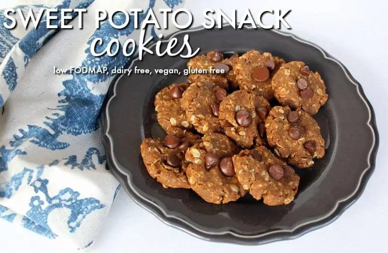 Sweet Potato Oatmeal Snack Cookies low FODMAP, vegan, dairy free, gluten free