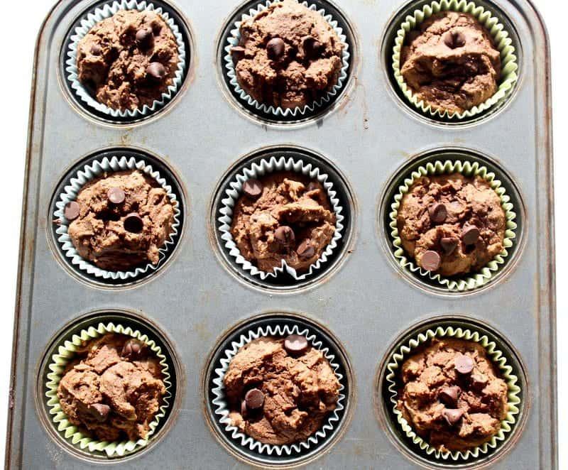 Double Chocolate Muffins low FODMAP, gluten free, dairy free, hidden veggie