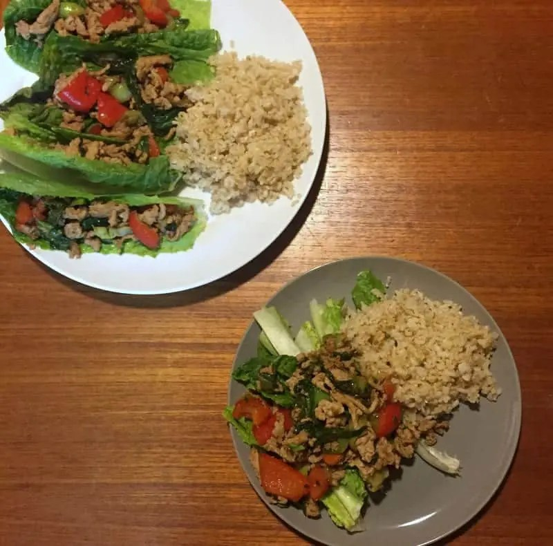 Kate Scarlata Asian Chicken Lettuce Wraps