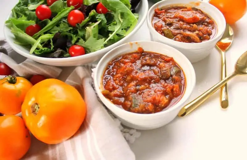 Slow Cooker Ratatouille - low FODMAP, gluten free, grain free, dairy free, vegan, whole 30