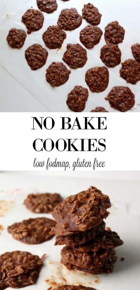 No Bake Cookies - low FODMAP, gluten free