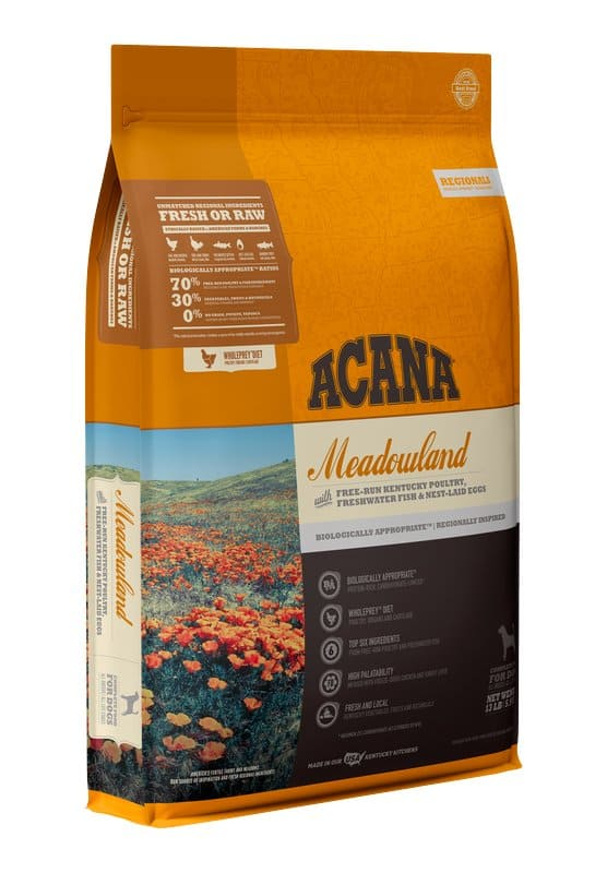 Acana Meadowland for dogs front of bag
