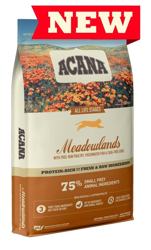 Acana Meadowlands for Cats front of bag