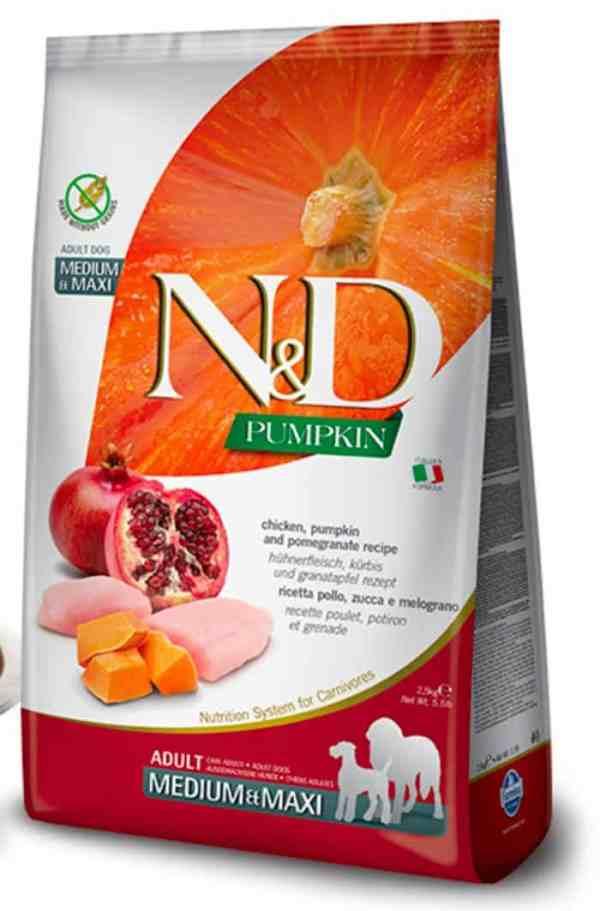 Farmina N&D Chicken Pomegranate Pumpkin Medium Maxi