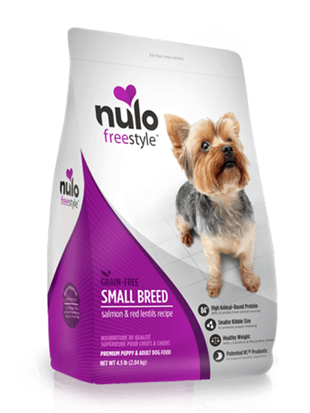 Nulo Small Breed Salmon & Red Lentils Front of Bag