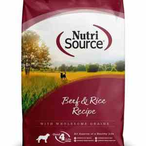 Nutri Source Beef & Rice Front of Bag