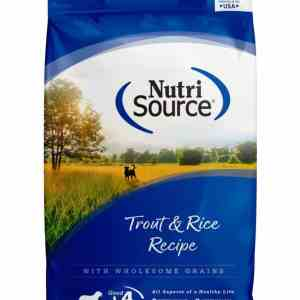 Nutri Source Trout & Rice Front of Bag