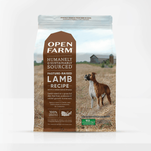 Open Farm Lamb Dog Food Front of Bag