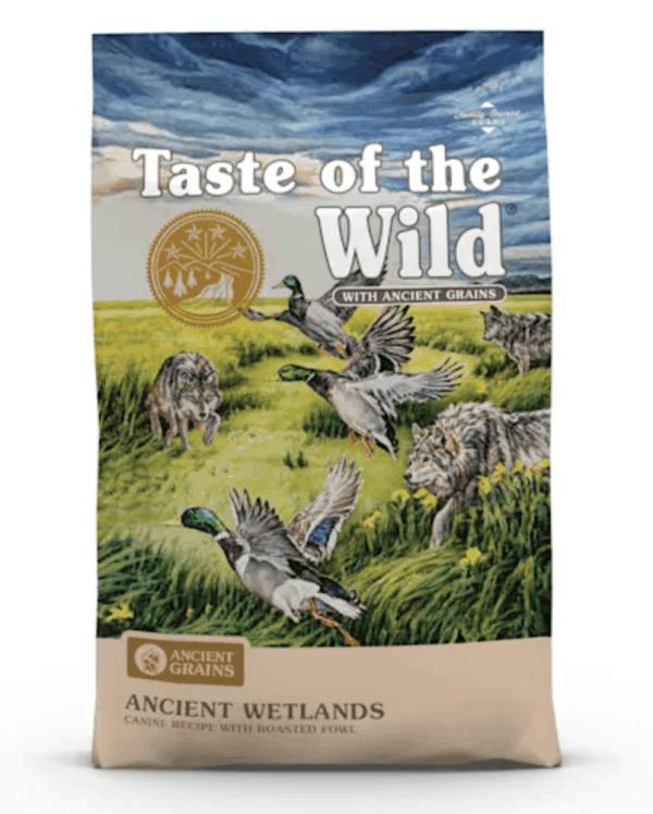 Taste of the Wild Ancient Wetlands Front of Bag