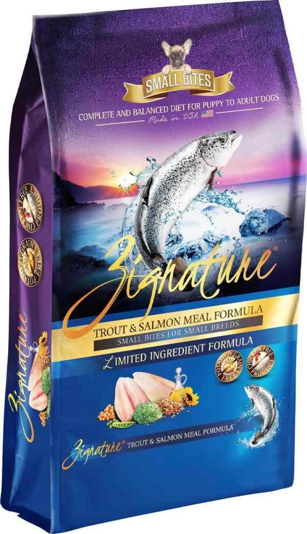 Zignature Trout & Salmon Front of Bag