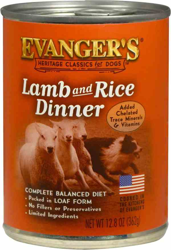 Lamb and rice front of can
