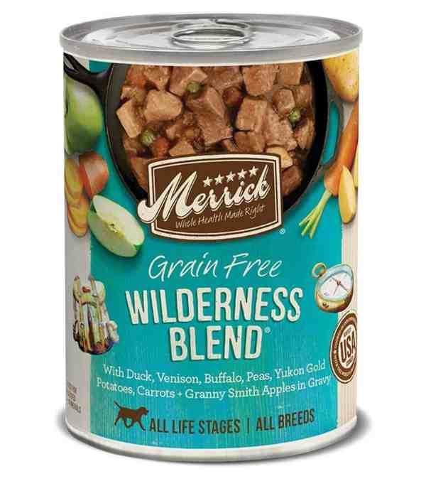 Merrick Wilderness Blend canned dog food 12.7oz