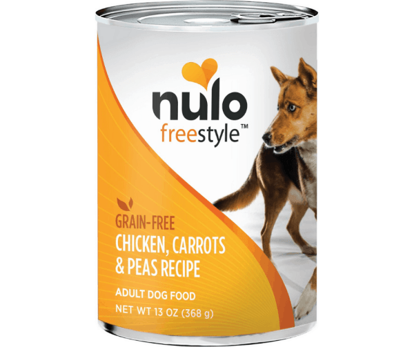 Nulo chicken carrots peas 13oz canned dog food