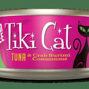 Tiki cat tuna in crab 2.8oz canned cat food