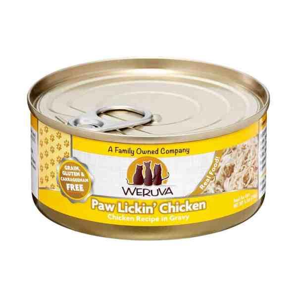 Weruva paw lickin chicken 5.5oz canned cat food