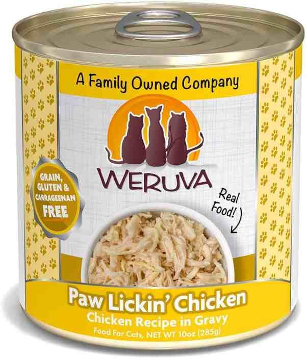 weruva paw lickin chicken 10oz canned cat food