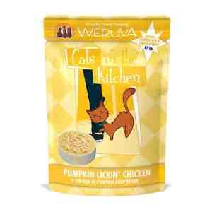 Weruva pumpkin lickin chicken pouch cat food 3oz