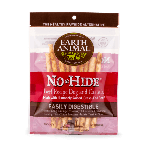 Earth Animal No Hide Beef Stix 10-pack