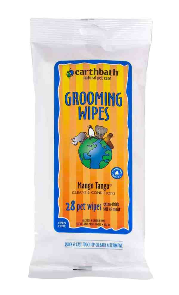 Earthbath Grooming WIpes Mango Tango