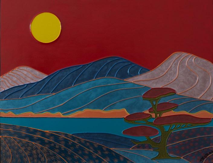 Colorist Art Study #5 - Étude coloriste #5 - 22 in. x 28 in. x 1.5 in. - 56 cm. x 71 cm. x 4 cm.