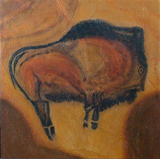 The Bison - Le bison - Grotte Altirama, Espagne - 48 in x 48 in x 1.5 in - 122 cm x 122 cm x 4 cm