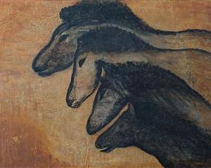 The Horse Race - La course des chevaux - Caverne Chauvet - 36 in x 48 in x 1.5 in - 92 cm x 122 cm x 4 cm